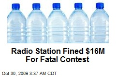 Radio Station Fined $16M For Fatal Contest