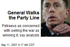 General Walks the Party Line