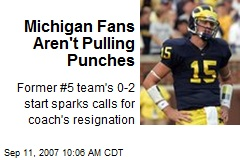 Michigan Fans Aren't Pulling Punches