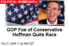 GOP Foe of Conservative Hoffman Quits Race