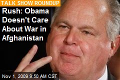 Rush: Obama Doesn't Care About War in Afghanistan