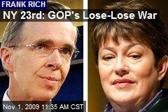 NY 23rd: GOP's Lose-Lose War