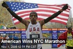 American Wins NYC Marathon