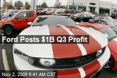 Ford Posts $1B Q3 Profit