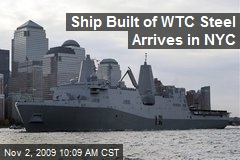 Ship Built of WTC Steel Arrives in NYC