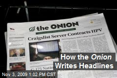 How the Onion Writes Headlines