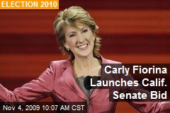 Carly Fiorina Launches Calif. Senate Bid