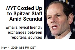 NYT Cozied Up to Spitzer Staff Amid Scandal