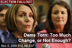 Dems Torn: Too Much Change, or Not Enough?