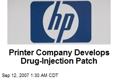 Printer Company Develops Drug-Injection Patch
