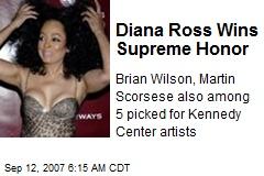 Diana Ross Wins Supreme Honor