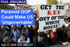 Paranoid GOP Could Make US 'Ungovernable'