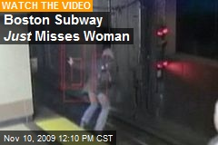 Boston Subway Just Misses Woman