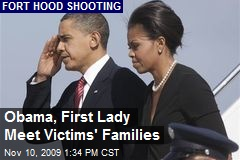 Obama, First Lady Meet Victims' Families