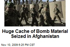 Huge Cache of Bomb Material Seized in Afghanistan