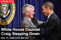 White House Counsel Craig Stepping Down