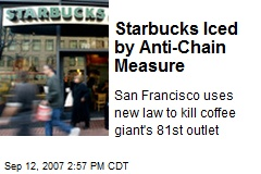 Starbucks Iced by Anti-Chain Measure