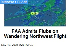 FAA Admits Flubs on Wandering Northwest Flight