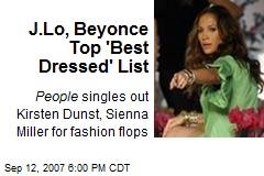J.Lo, Beyonce Top 'Best Dressed' List