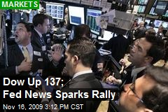 Dow Up 137; Fed News Sparks Rally
