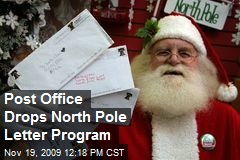 Post Office Drops North Pole Letter Program