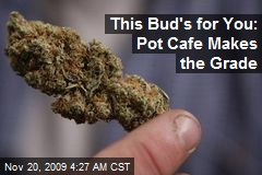This Bud's for You: Pot Cafe Makes the Grade