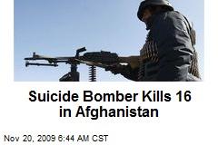 Suicide Bomber Kills 16 in Afghanistan