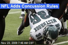 NFL Adds Concussion Rules