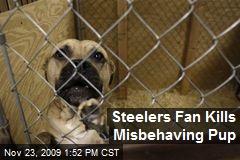 Steelers Fan Kills Misbehaving Pup