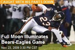 Full Moon Illuminates Bears-Eagles Game