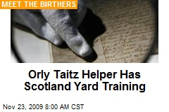 Orly Taitz Helper Has Scotland Yard Training