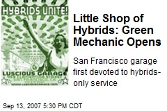 Little Shop of Hybrids: Green Mechanic Opens