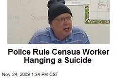 Police Rule Census Worker Hanging a Suicide