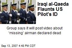 Iraqi al-Qaeda Flaunts US Pilot's ID
