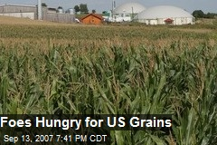 Foes Hungry for US Grains