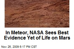 In Meteor, NASA Sees Best Evidence Yet of Life on Mars