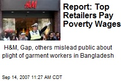 Report: Top Retailers Pay Poverty Wages