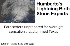 Humberto's Lightning Birth Stuns Experts
