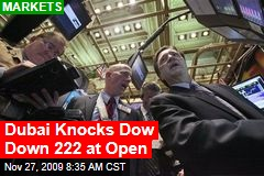 Dubai Knocks Dow Down 222 at Open