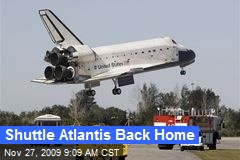 Shuttle Atlantis Back Home