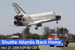 Shuttle Atlantis Back Home