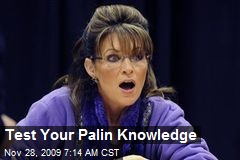 Test Your Palin Knowledge