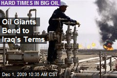 Oil Giants Bend to Iraq's Terms