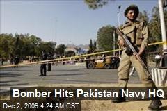 Bomber Hits Pakistan Navy HQ