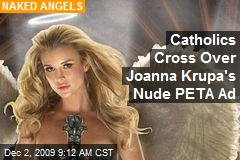 Catholics Cross Over Joanna Krupa's Nude PETA Ad