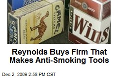 Reynolds Buys Firm That Makes Anti-Smoking Tools