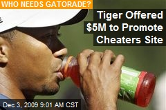 Tiger Offered $5M to Promote Cheaters Site