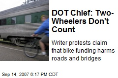 DOT Chief: Two-Wheelers Don't Count