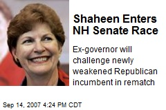 Shaheen Enters NH Senate Race