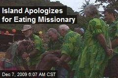 Island Apologizes for Eating Missionary